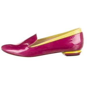 Rare Nicholas Kirkwood Neon Patent Leather Loafers